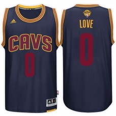 2017 NBA The Finals Patch Kevin Love Cleveland Cavaliers #0 Alternate Navy New Swingman Jersey