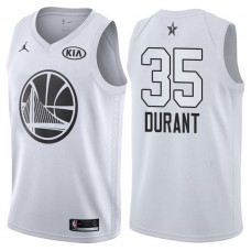 2018 All-StarWarriors Kevin Durant #35 White Jersey