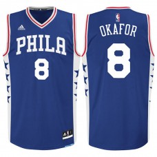 2015 NBA Draft Philadelphia 76ers Jahlil Okafor Road Blue Swingman Jersey