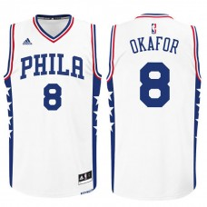 2015 NBA Draft Philadelphia 76ers Jahlil Okafor Home White Swingman Jersey