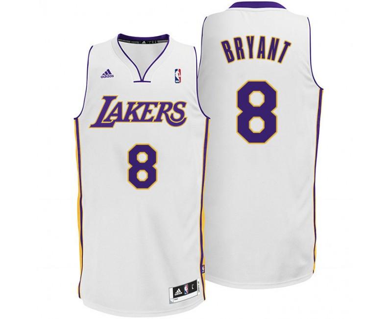 Kobe Bryant Los Angeles Lakers #8 Sunday White Jersey