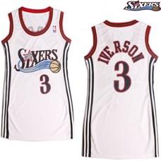 Women's Allen Iverson Philadelphia 76ers #3 White Jersey
