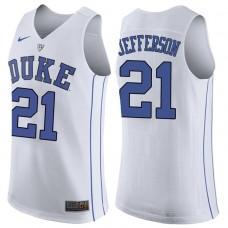 Amile Jefferson NCAA Duke Blue Devils #21 White Basketball Jersey