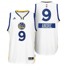 Andre Iguodala Golden State Warriors #9 Christmas Day X-mas Big Logo Swingman White Jersey