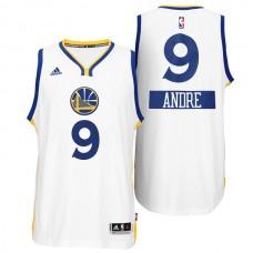 Andre Iguodala Golden State Warriors #9 Christmas Day X-mas Big Logo Swingman White Jersey