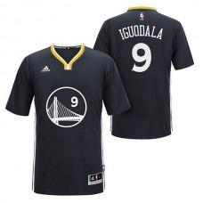 Andre Iguodala Golden State Warriors #9 2014-15 New Swingman Black Jersey With Sleeves