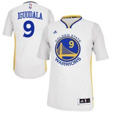 Andre Iguodala Golden State Warriors #9 2014-15 New Swingman White Jersey With Sleeves