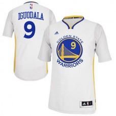 Andre Iguodala Golden State Warriors #9 2014-15 New Swingman White Jersey With Sleeves