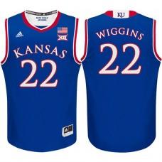 Andrew Wiggins NCAA Kansas Jayhawks #22 Royal Basketball Jersey