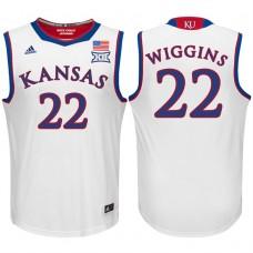 Andrew Wiggins NCAA Kansas Jayhawks #22 White Basketball Jersey