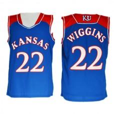 Andrew Wiggins Kansas Jayhawks #22 Royal Blue Jersey