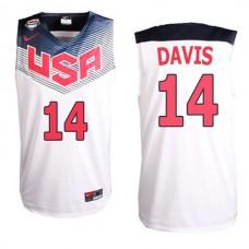 Anthony Davis 2014 FIBA Basketball World Cup USA team White Jersey