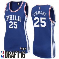 Women's Ben Simmons Philadelphia 76ers #25 2016 NBA Draft Road Blue Jersey