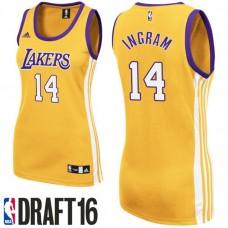 Women's Brandon Ingram Los Angeles Lakers #14 2016 NBA Draft Home Gold Jersey