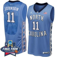 Brice Johnson 2016 NCAA North Carolina Tar Heels #11 Blue Jersey