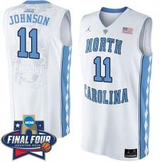 Brice Johnson 2016 NCAA North Carolina Tar Heels #11 White Basketball Jersey