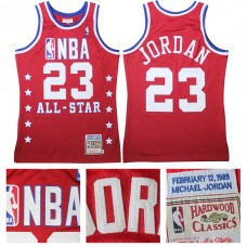 Chicago Bulls #23 Michael Jordan All Star Hardwood Classic Red Jersey