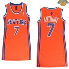 Women's Carmelo Anthony New York Knicks #7 Orange Jersey