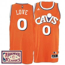 2016-17 Season Cleveland Cavaliers #0 Hardwood Classics Throwback Orange Jersey Kevin Love