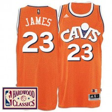 2016-17 Season Cleveland Cavaliers #23 Hardwood Classics Throwback Orange Jersey LeBron James