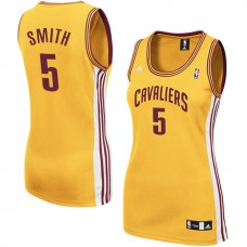 Women's J.R. Smith Cleveland Cavaliers #5 Gold Jersey