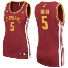 Women's J.R. Smith Cleveland Cavaliers #5 Red Jersey