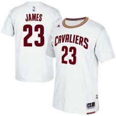 Cleveland Cavaliers #23 Lebron James New Swingman White short sleeve Jersey