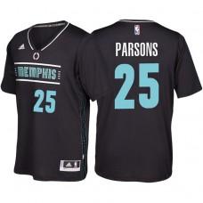 Chandler Parsons Memphis Grizzlies #25 Black MLK50 Pride Sleeved Swingman Jersey