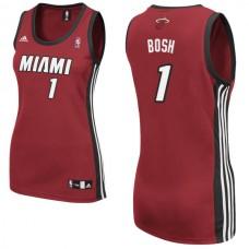 Women's Chris Bosh Miami Heat #1 Red Jersey