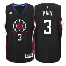 2015 New Season Logo Chris Paul Los Angeles Clippers #3 Black Swingman Jersey