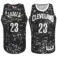 Cleveland Cavaliers #23 LeBron James City Lights Black Swingman Jersey