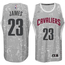Cleveland Cavaliers #23 LeBron James City Lights Gray Swingman Jersey