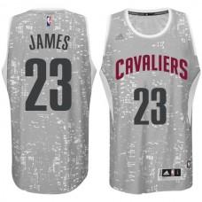 Cleveland Cavaliers #23 LeBron James City Lights Gray Swingman Jersey