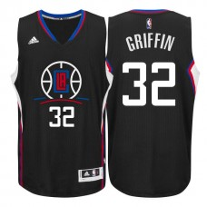 2015 Season Logo Blake Griffin Los Angeles Clippers #32 Black Swingman Jersey
