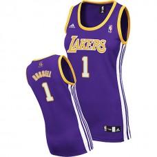 Women's D'Angelo Russell Los Angeles Lakers #1 Purple Jersey