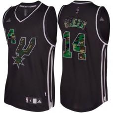 Danny Green San Antonio Spurs #14 Black Camo Fashio  Swingman Jersey