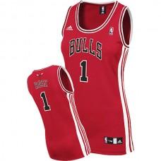 Women's Derrick Rose Chicago Bulls #1 Swingman Road Red Jersey