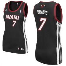 Women's Goran Dragic Miami Heat #7 Black Jersey