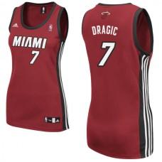 Women's Goran Dragic Miami Heat #7 Red Jersey