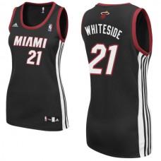 Women's Hassan Whiteside Miami Heat #21 Black Jersey