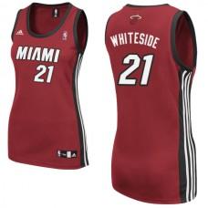 Women's Hassan Whiteside Miami Heat #21 Red Jersey