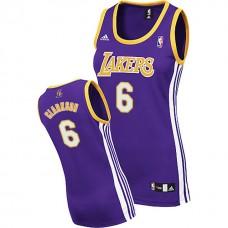Women's Jordan Clarkson Los Angeles Lakers #6 Purple Jersey