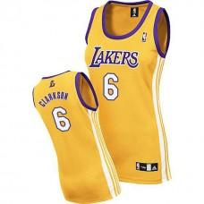 Women's Jordan Clarkson Los Angeles Lakers #6 Yellow Jersey