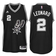 Kawhi Leonard San Antonio Spurs #2 2015-16 New Swingman Black Signature Spur Jersey