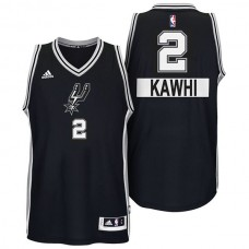 Kawhi Leonard San Antonio Spurs #2 2014 Christmas Day Big Logo Swingman Black Jersey