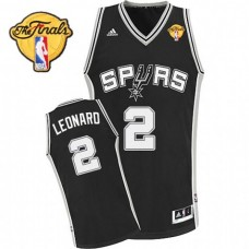 Kawhi Leonard San Antonio Spurs #2 2014 NBA Finals MVP Black Revolution 30 Swingman Jersey