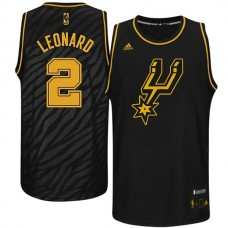 Kawhi Leonard San Antonio Spurs #2 Precious Metals Fashion Swingman Limited Edition Black Jersey