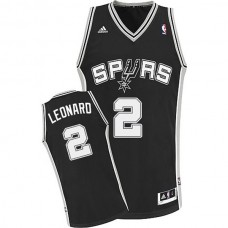 Kawhi Leonard San Antonio Spurs #2 Revolution 30 Swingman Road Black Jersey