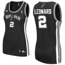 Women's Kawhi Leonard San Antonio Spurs #2 Black Jersey