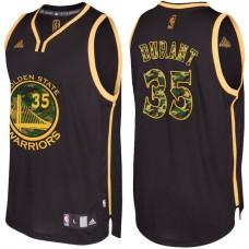 Kevin Durant Golden State Warriors #35 Black Camo Fashio  Swingman Jersey